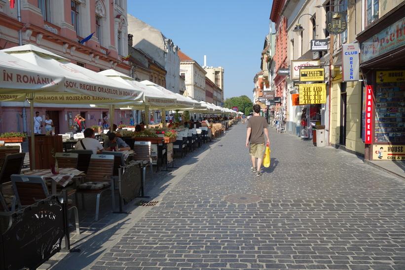Gatuscen i centrala Brașov.