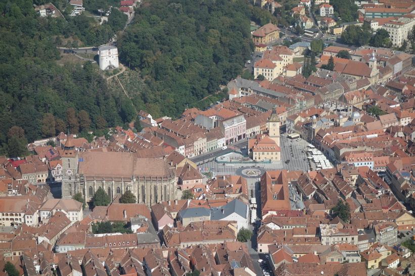 Vy över Brașov från mount Tampa.