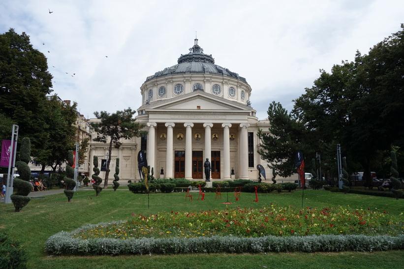 Konserthallen Romanian Athenaeum som öppnades 1888 är ett landmärke i den rumänska huvudstaden.