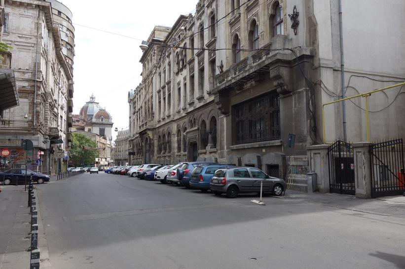 Gammal arkitektur i centrala Bukarest.