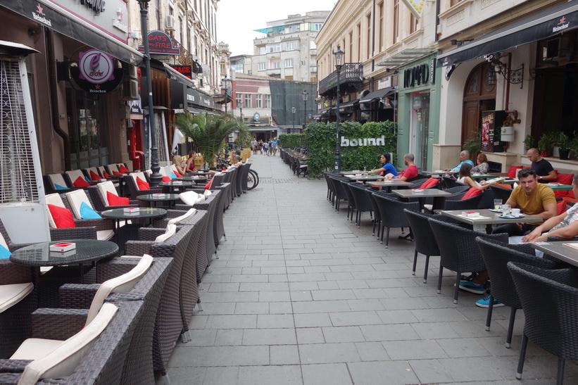 Gamla staden i Bukarest.
