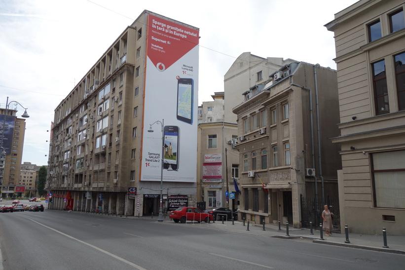 Gatuscen i centrala Bukarest.