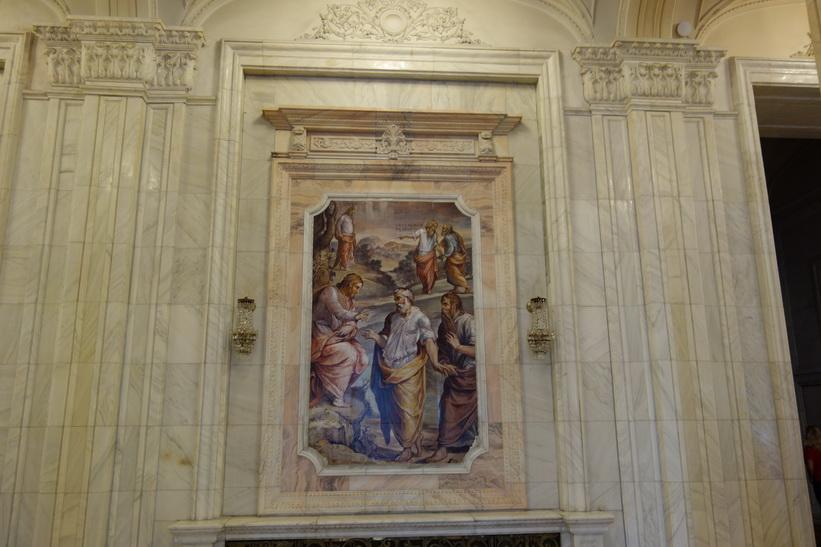 Konsten är en inspiration från Vatikanstaten, presidentpalatset, Bukarest.