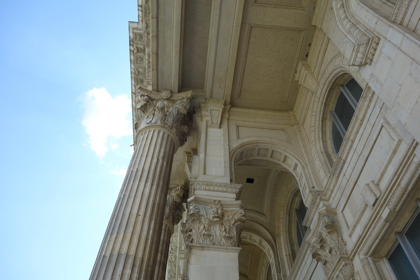 Terrassen, presidentpalatset, Bukarest.