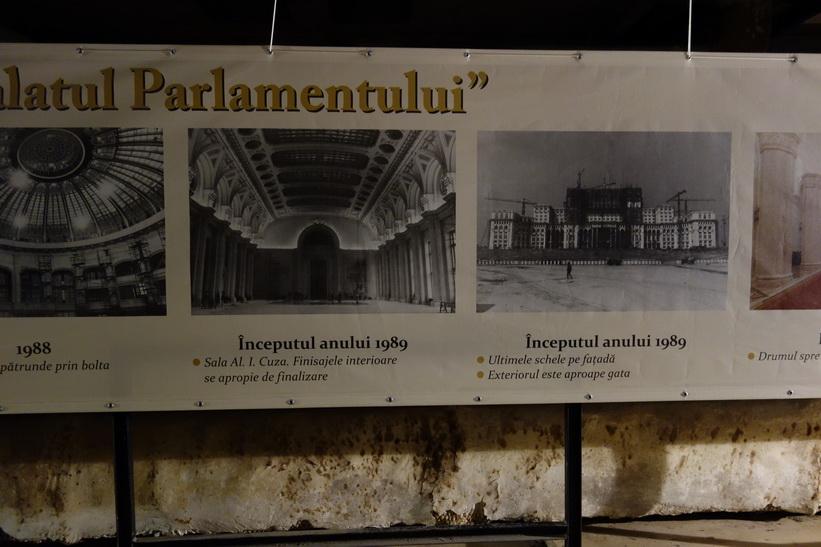 Flera våningar under jord, presidentpalatset, Bukarest.