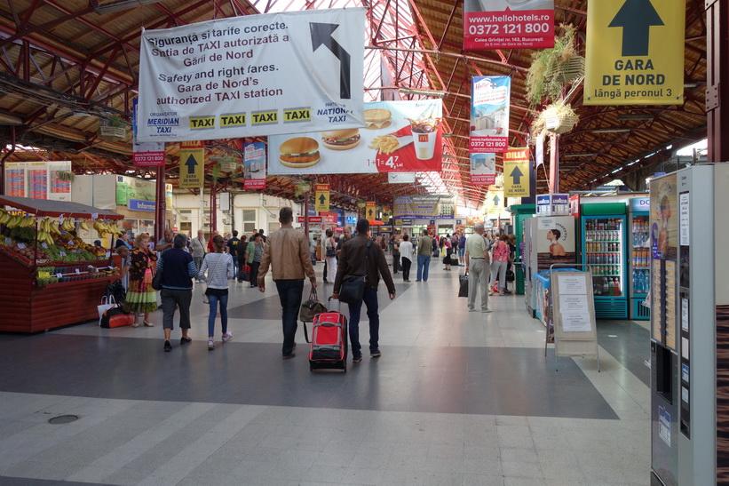 Gara Nord, tågstationen i Bukarest.