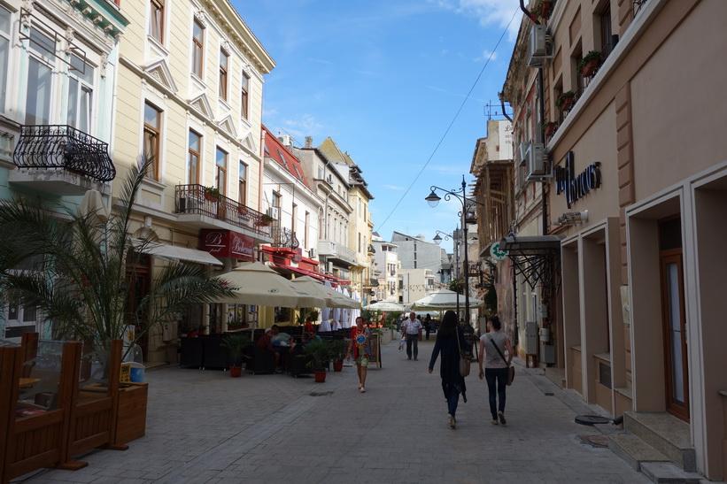 Gågatan i centrala Constanţa.
