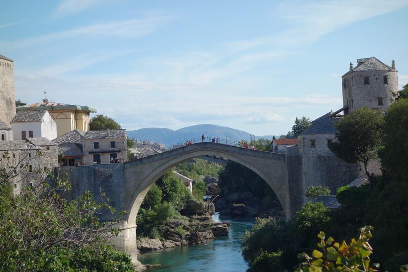Den världsberömda bron Stari Most, Mostar.