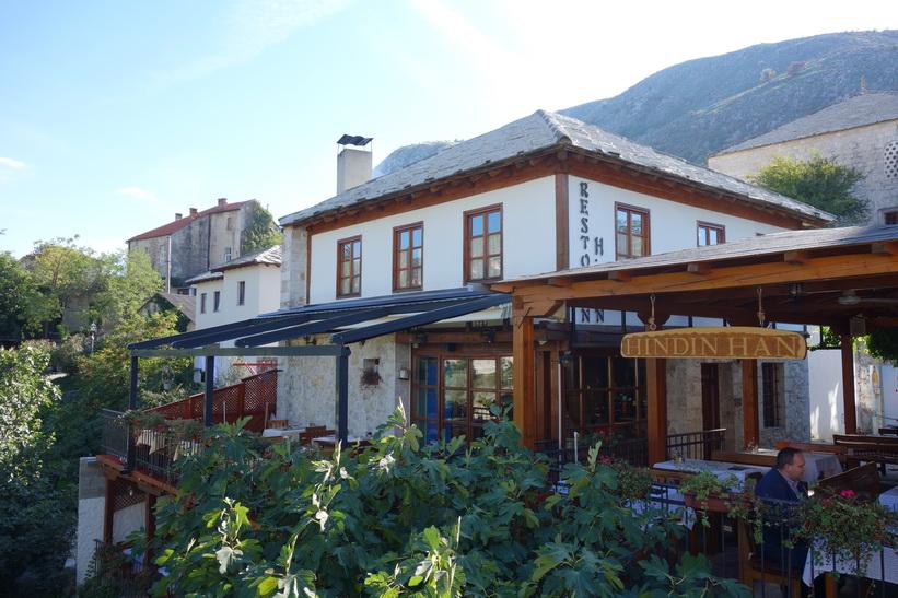 Den fina restaurangen Hindin Han, Stari grad (gamla staden) Mostar.