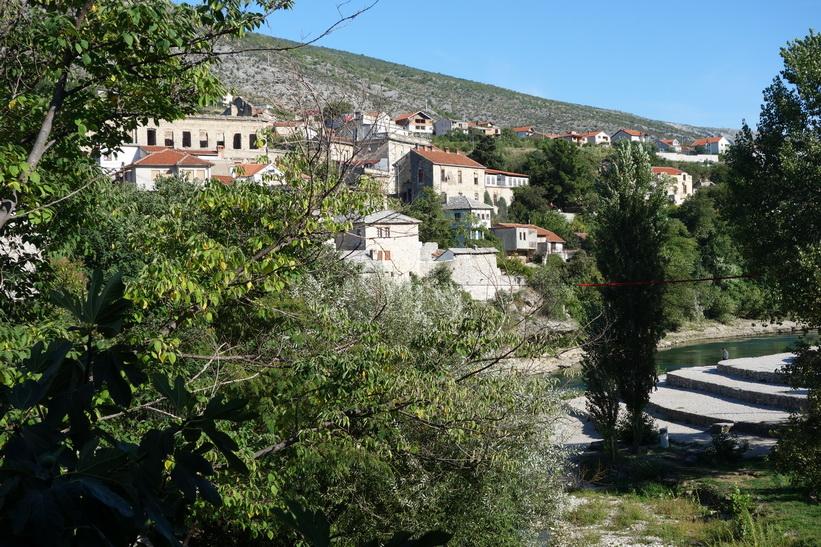 Utsikt från den fina restaurangen Hindin Han, Stari grad (gamla staden) Mostar.