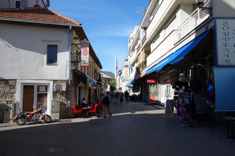 Gågatan i centrala Mostar.