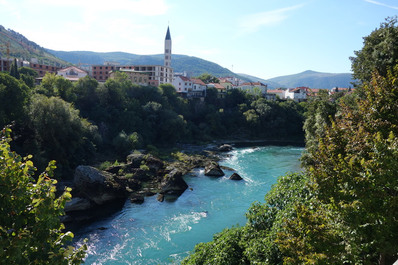 Neretva-floden, centrala Mostar.
