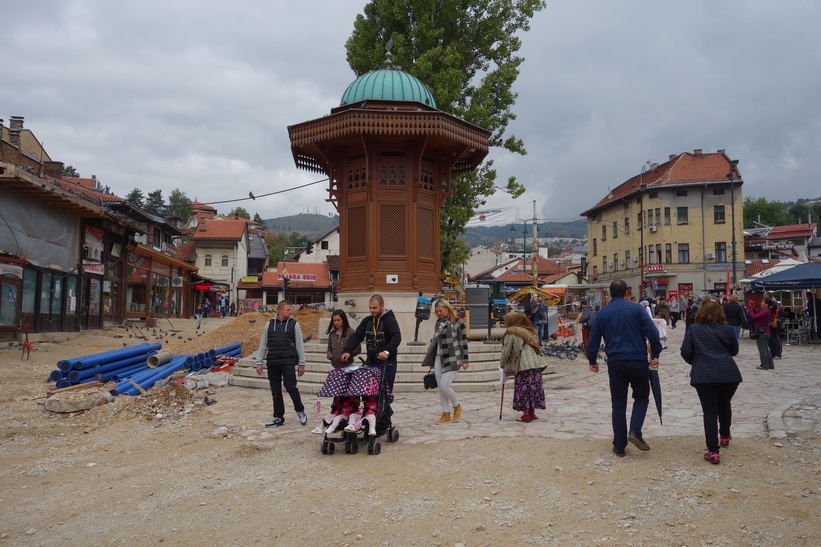 Sebilj fountain i Baščaršija, Sarajevo.