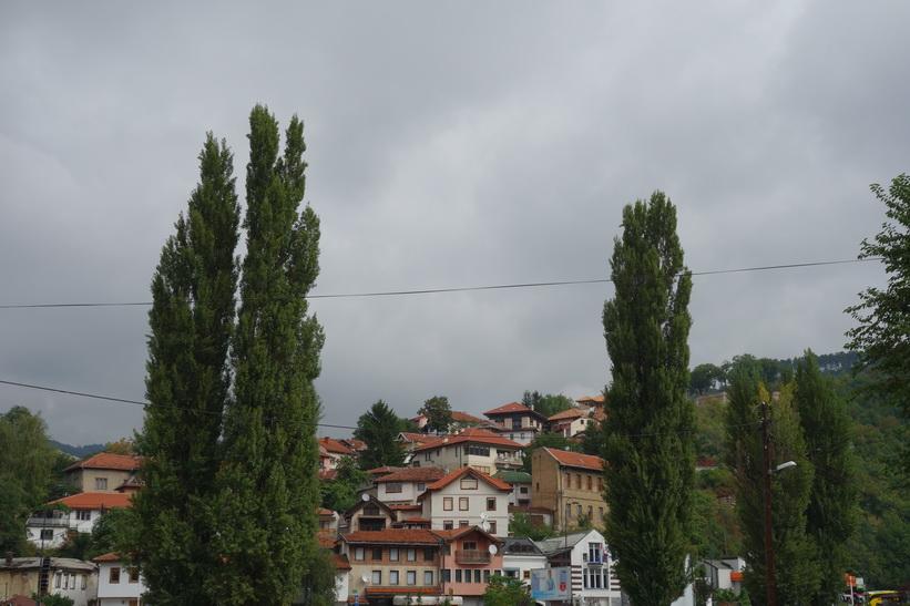Stadsvy i centrala Sarajevo.