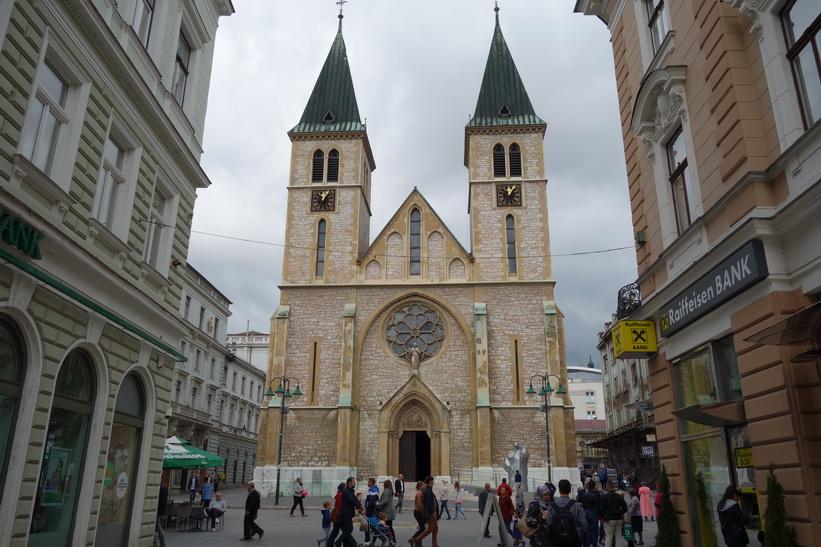 Cathedral of Jesus' sacred heart, Sarajevo.