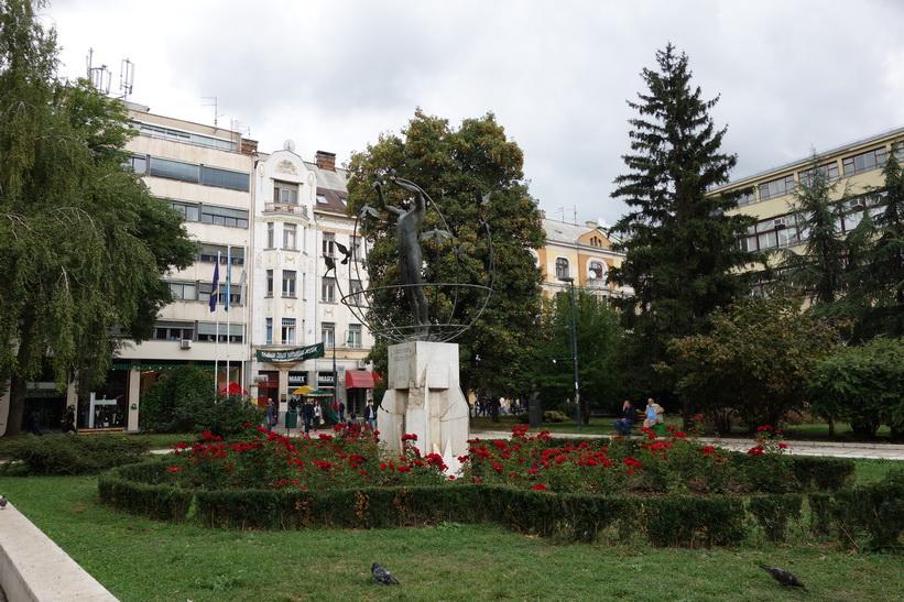Park i centrala Sarajevo.