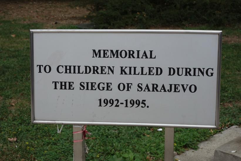 Wartime memorial for children of Sarajevo.
