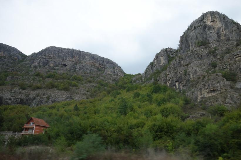 Landskapet i södra Serbien.