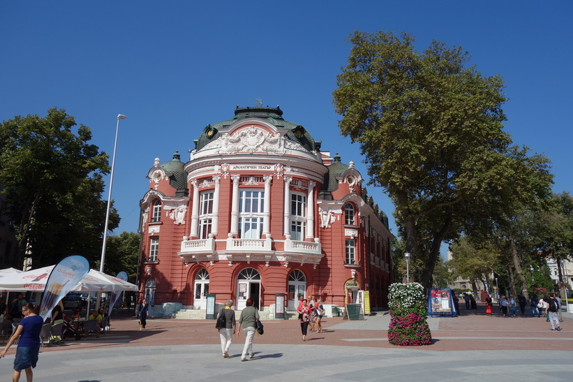 Torget Nezavisimost i centrala Varna.