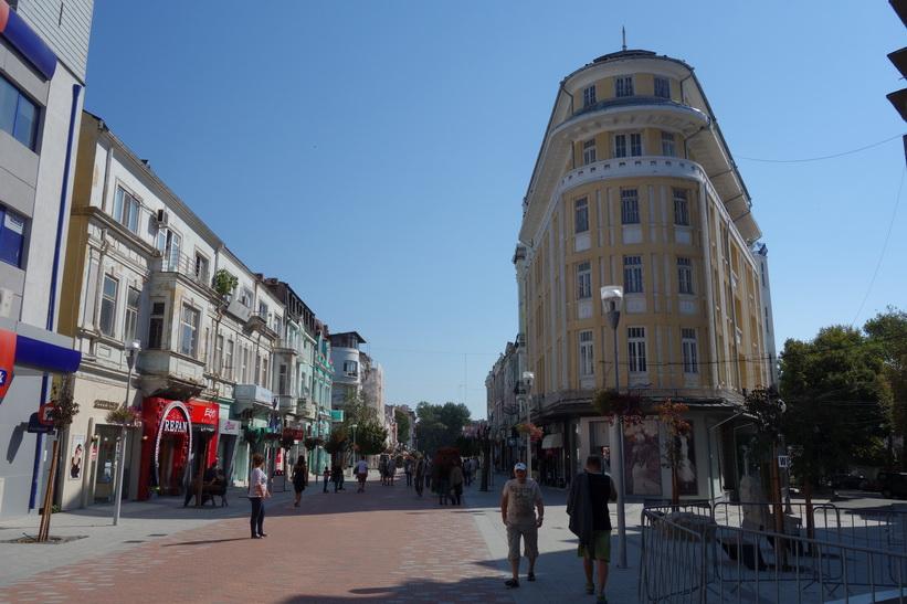 Gågatan i centrala Varna.