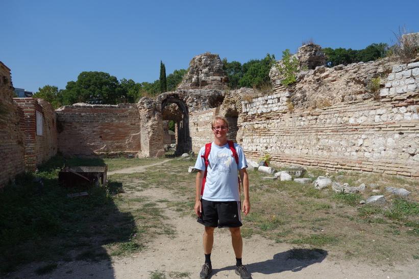Stefan på romerska baden i Varna.