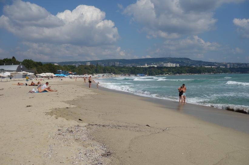 Stranden i centrala Varna.