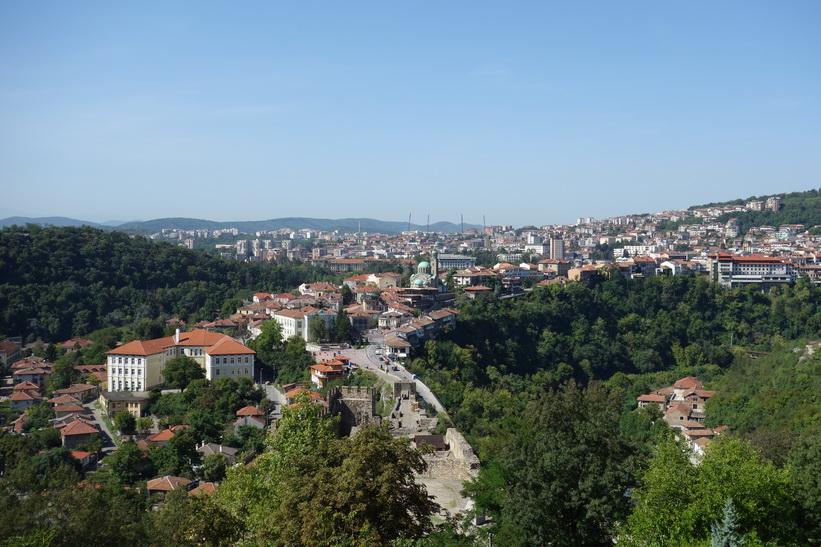 Veliko Tărnovo från Tsarevets Fortress.