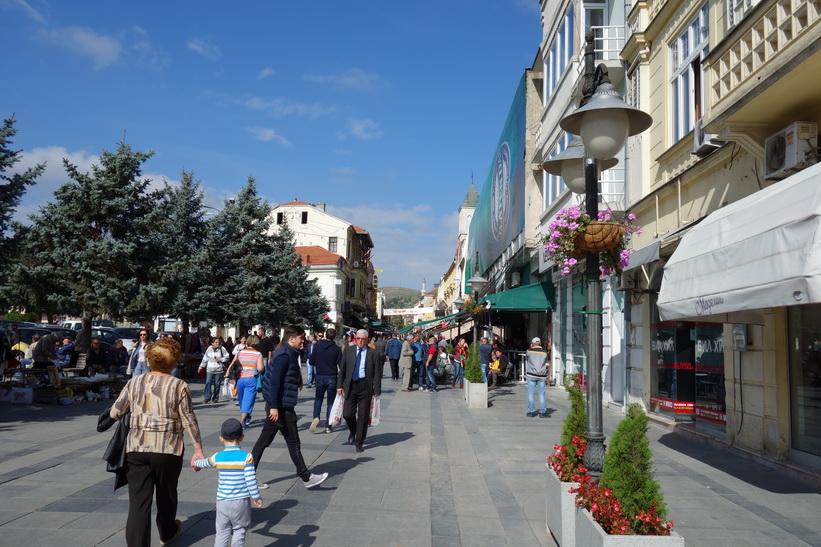 Gågatan i centrala Bitola.