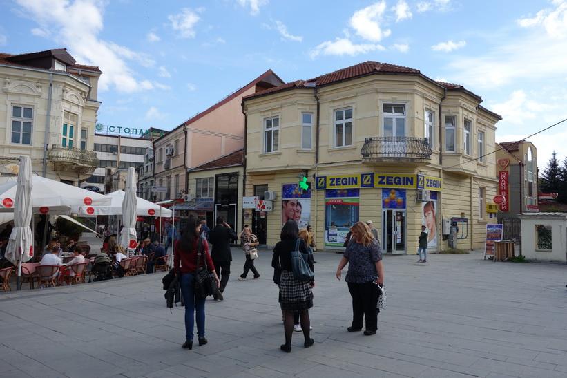 Torg i centrala Bitola.