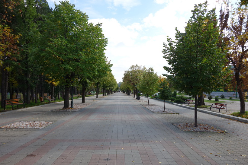 Stadspromenaden i centrala Bitola.
