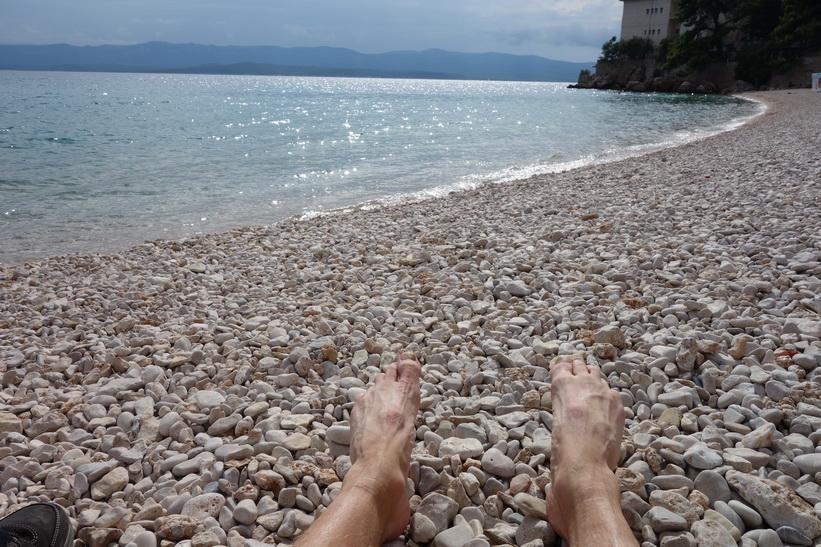 Solbad på Martinica Beach, Bol.