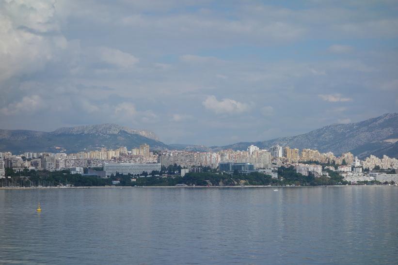 Del av Split som inte besöks av många turister