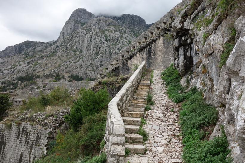 St John's fortress, St John's mountain, Kotor.