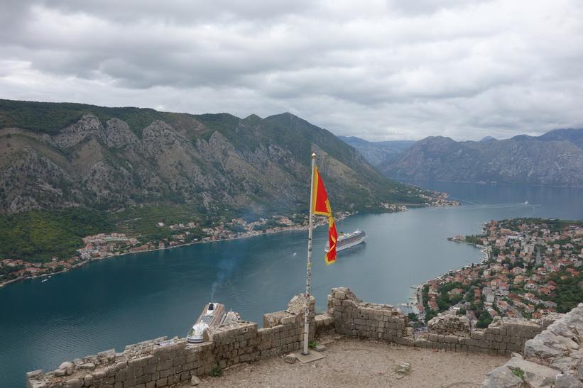 Uppe på St John's fortress, St John's mountain, Kotor.
