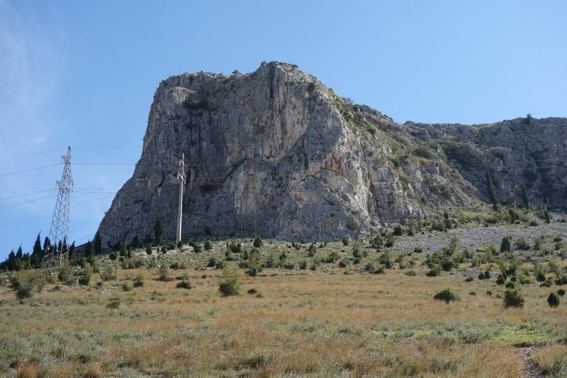 Bergets topp, öster om Mostar.