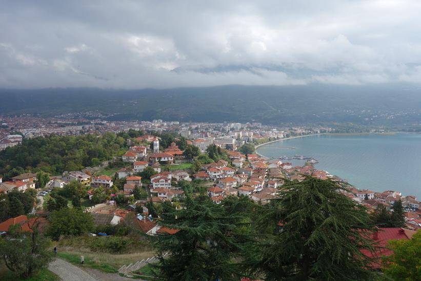 Utsikten från Tsar Samuels fästning, Ohrid.