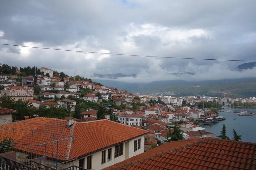 Vy över Ohrid.