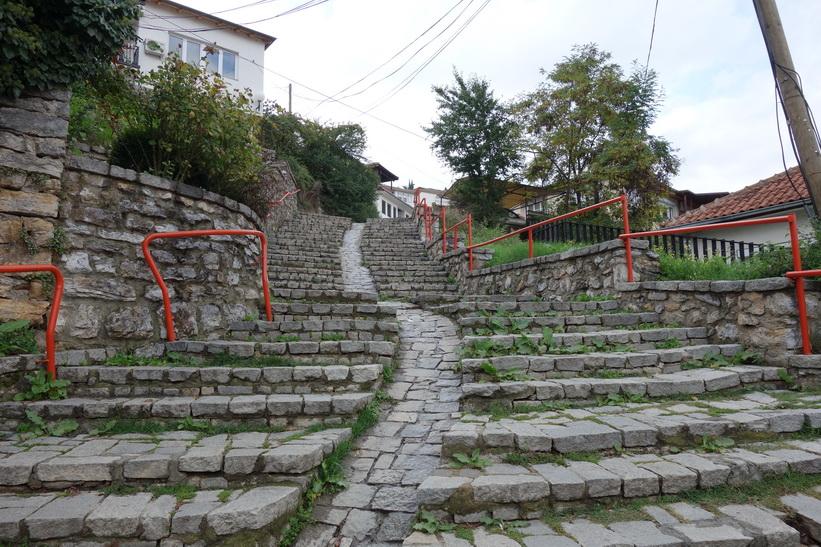 Trapp i centrala Ohrid. Handikappanpassad?