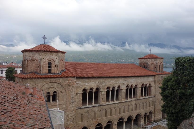 Saint Sophia-kyrkan i centrala Ohrid.