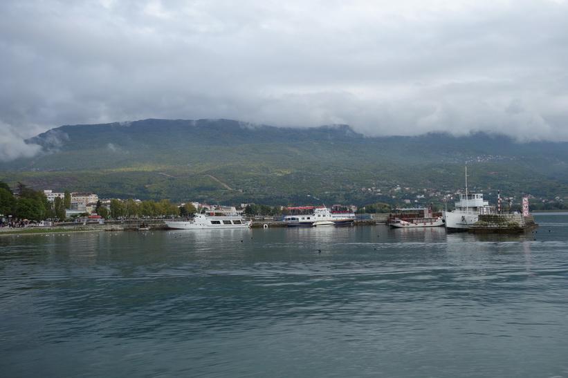 Lake Ohrid i centrala Ohrid.