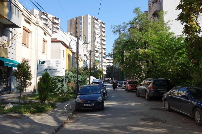 Gatuscen i centrala Skopje.