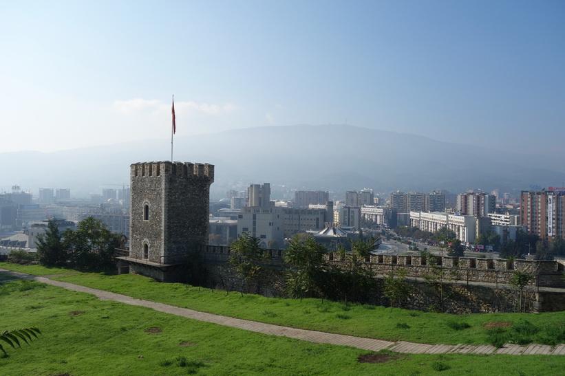 Kale-fästningen i Skopje.