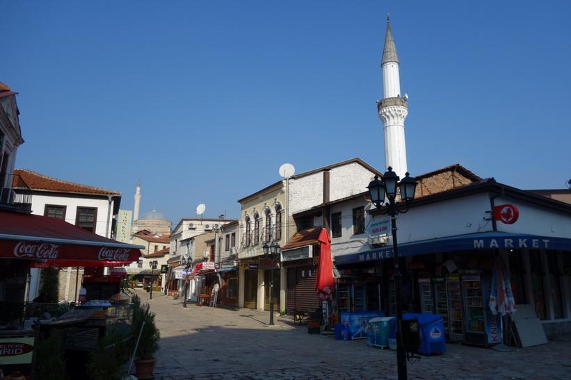 Skopjes gamla stadsdel.