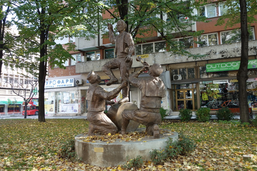 Monument längs Macedonia street, Skopje.