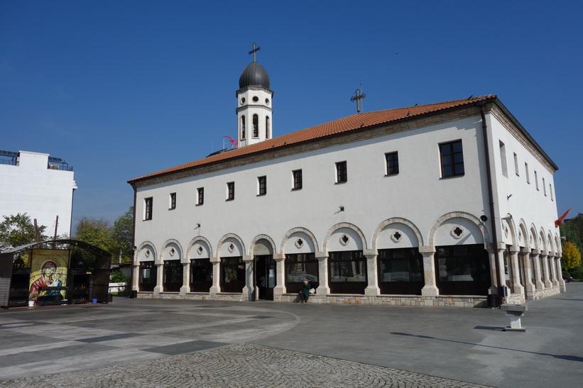 Kyrka i centrala Skopje.