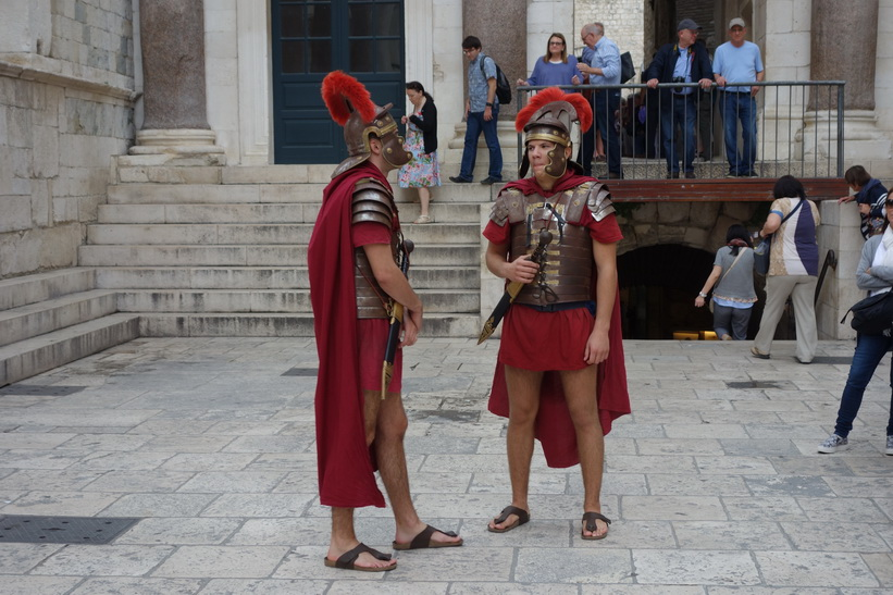Romare i Diocletianus palats, Split.