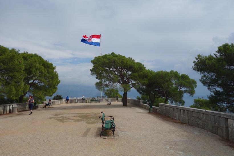 Uppe på Telegrin, 178 meter över havet, Split.