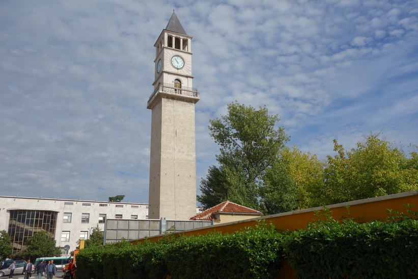 Klocktornet i centrala Tirana.