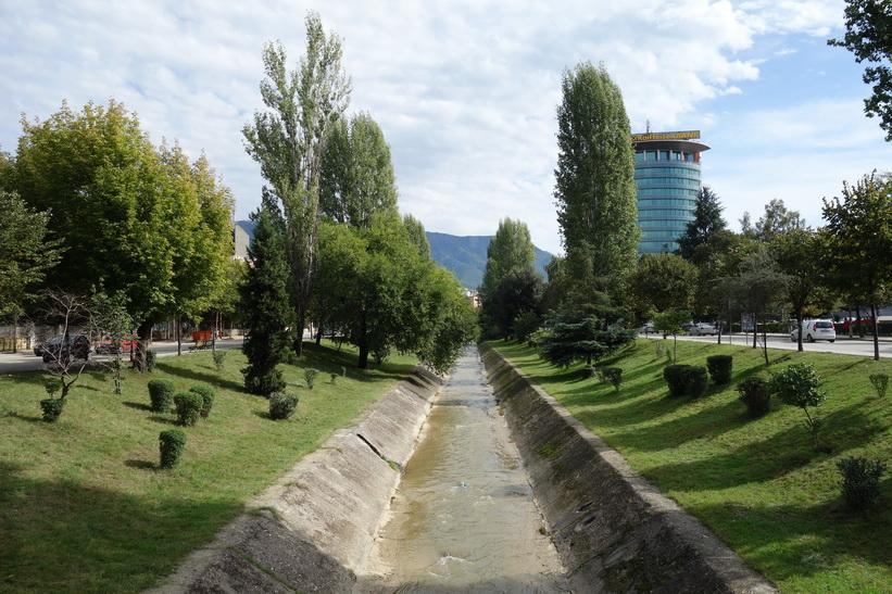 Lana River, Tirana.