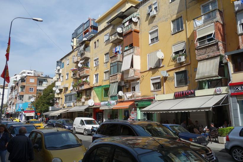 Lite finare lägenheter i centrala Tirana.